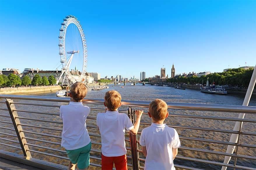London views from Golden Jubilee Bridge