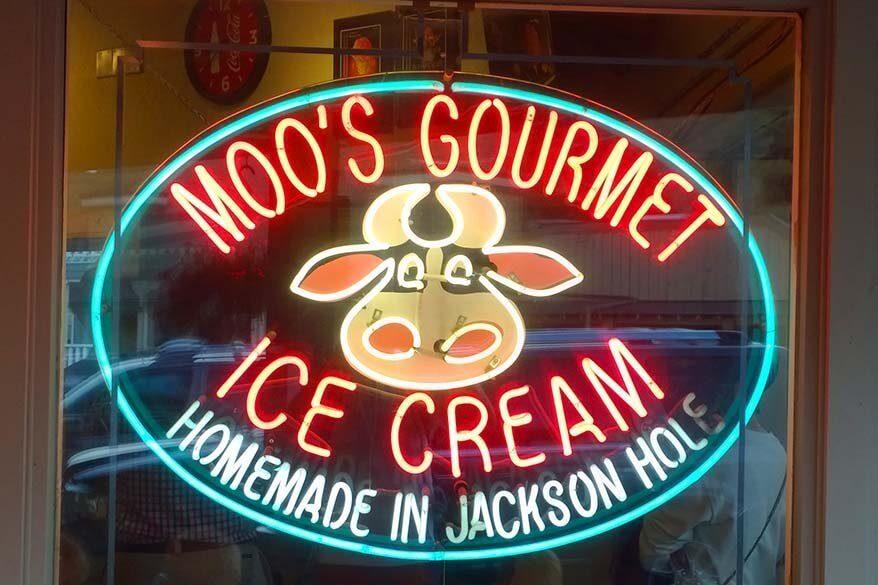 Moo's Gourmet Ice Cream in Jackson WY