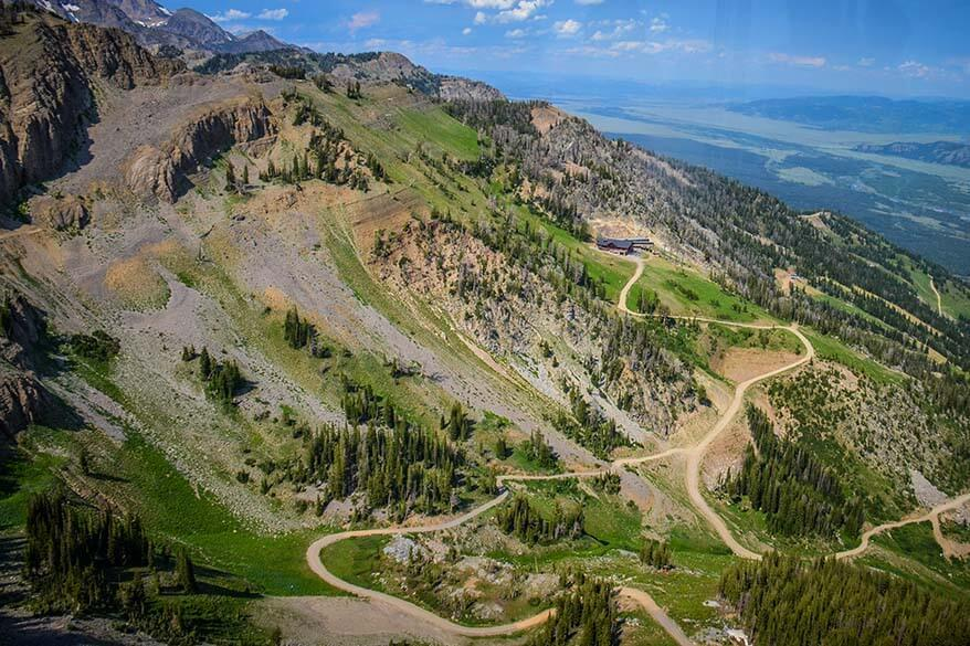 Mountain views from Jackson Hole Aerial Tram