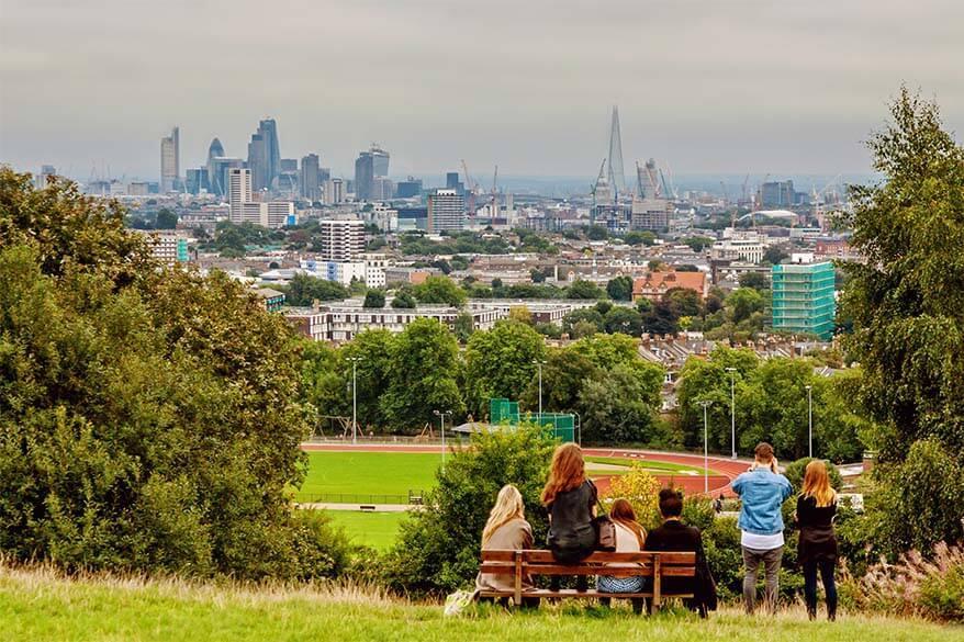 Parliament Hill Viewpoint in Hampstead Heath London