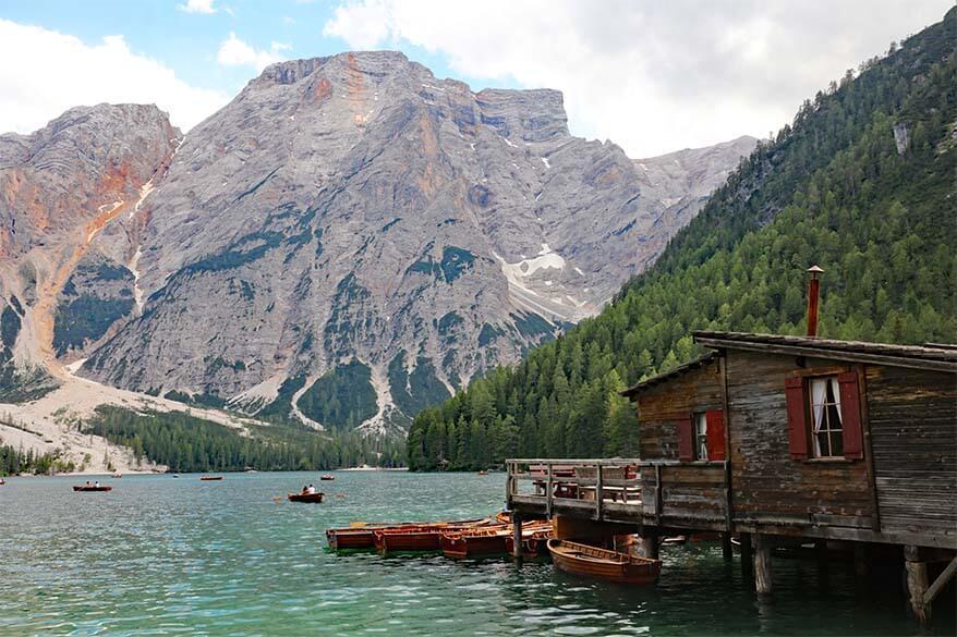 Pragser Wildsee boathouse