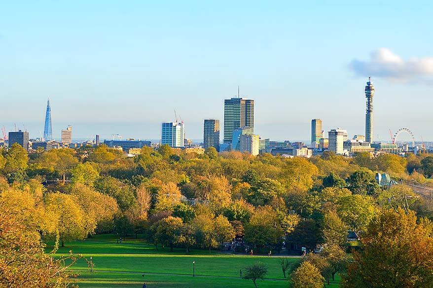 Primrose Hill views in London