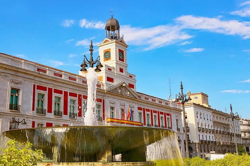 Puerta del Sol in Madrid