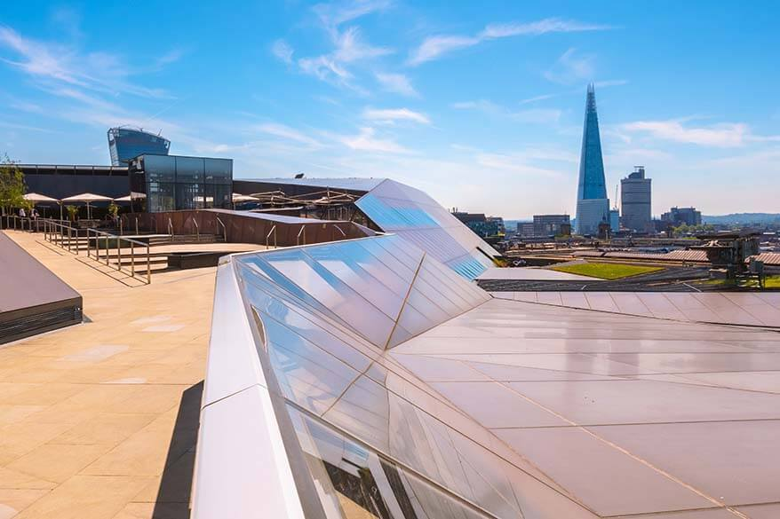 Rooftop restaurant views from One New Change in London