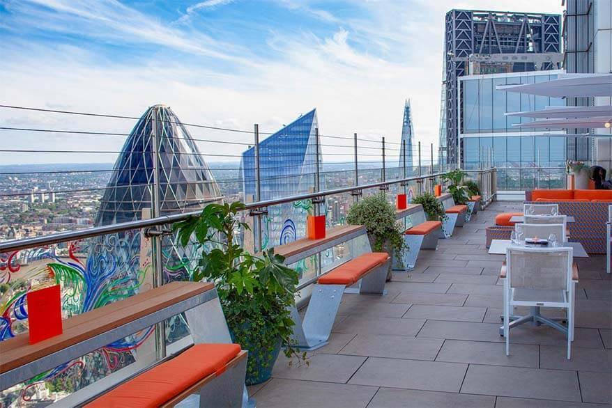 SUSHISAMBA restaurant views from London Heron Tower