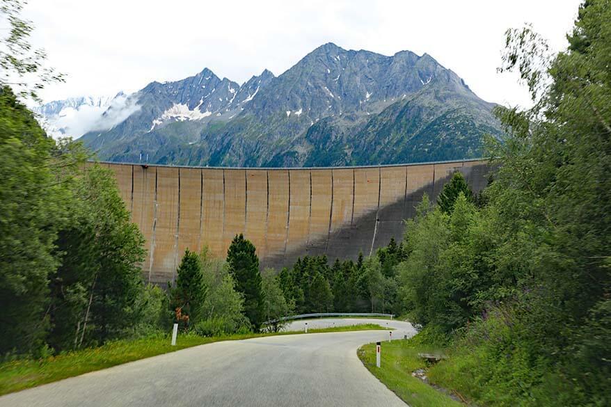 Schlegeis Dam in Austria