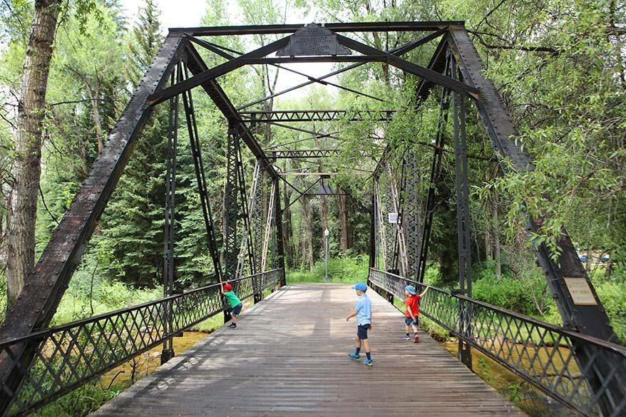 Sheely Bridge over Roaring Fork River in Aspen