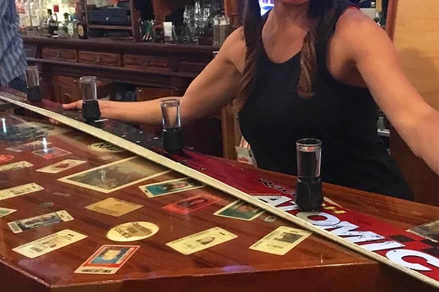 Shotski at a bar in Aspen
