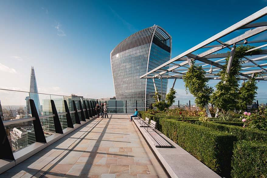 The Garden at 120 rooftop views in London