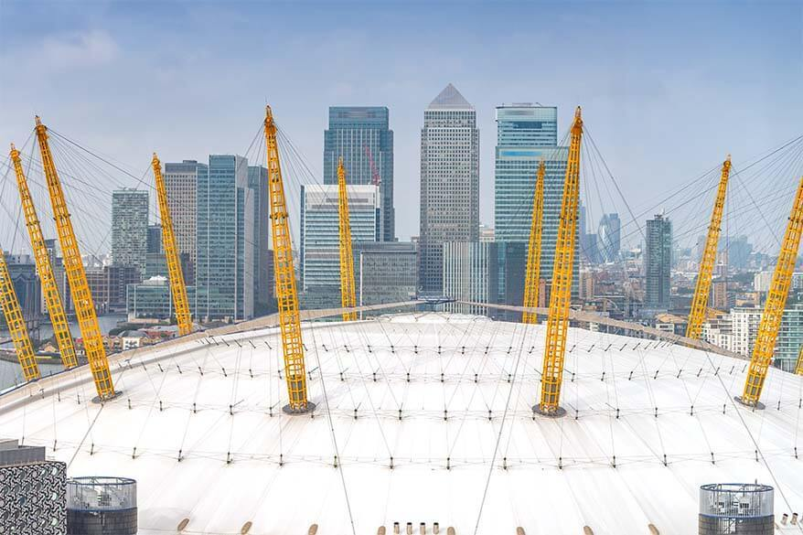 The O2 Arena views in London