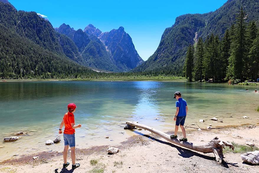 Toblacher See - Lago di Dobbiaco with kids