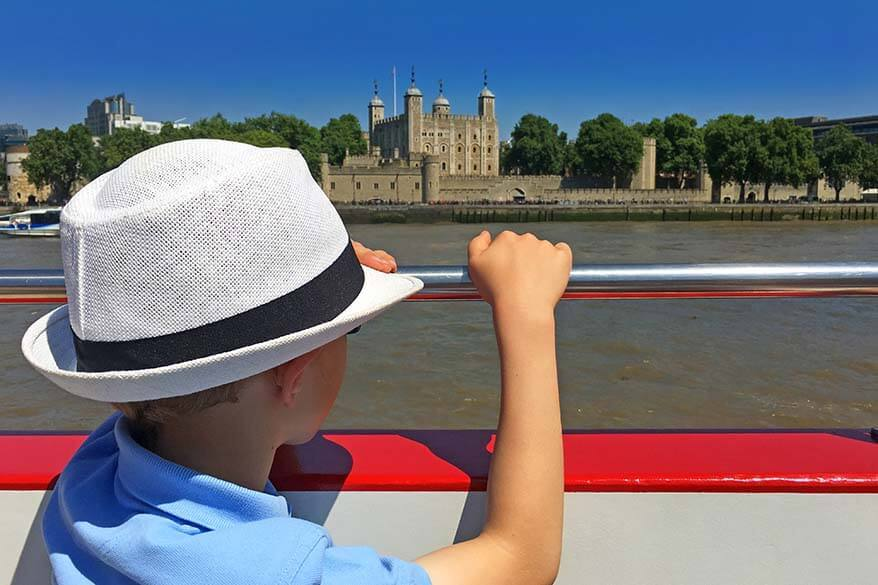 Tower of London as seen from Thames cruise