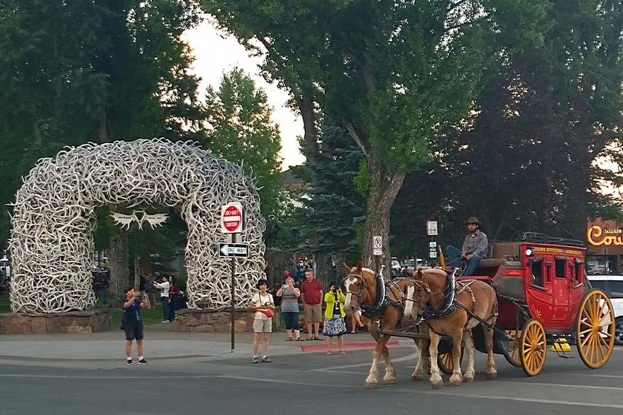 Town square of Jackson WY