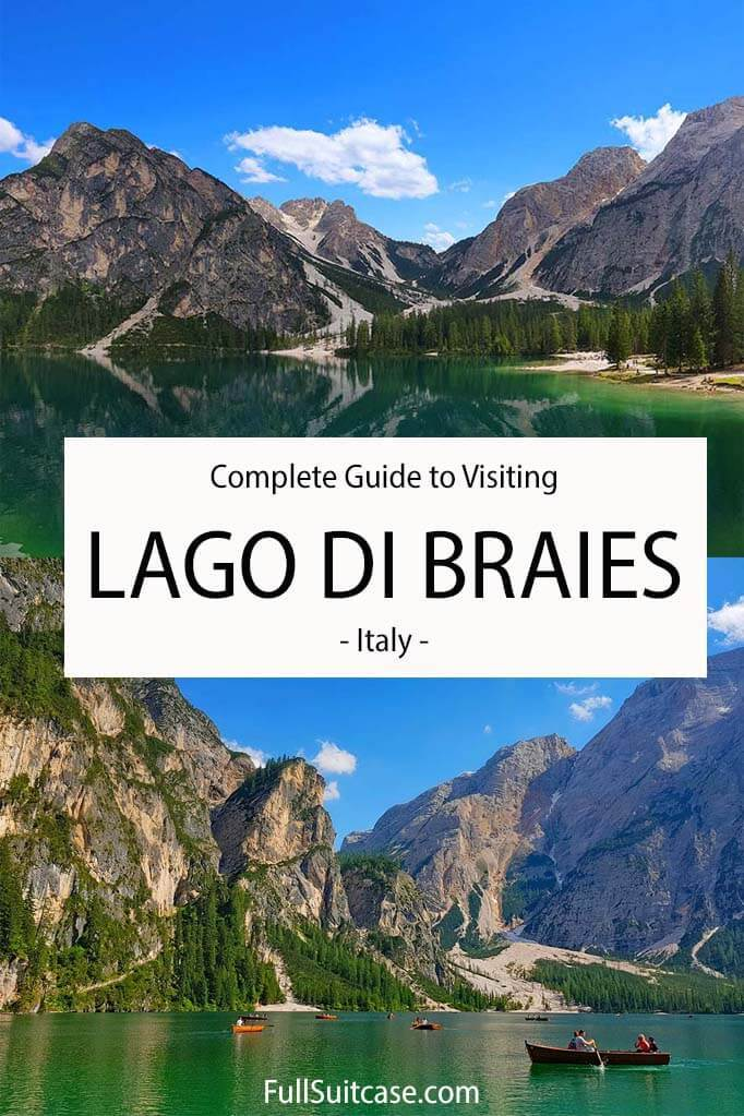 Ultimate guide to visiting Lago di Braies - Pragser Wildsee in the Italian Dolomites
