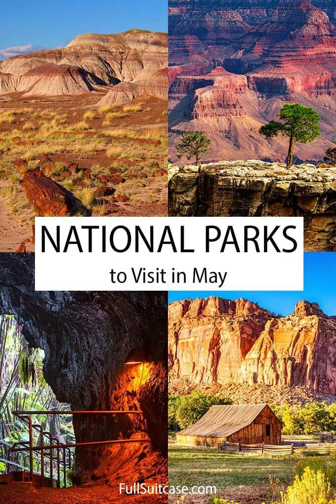 American National Parks to visit in May