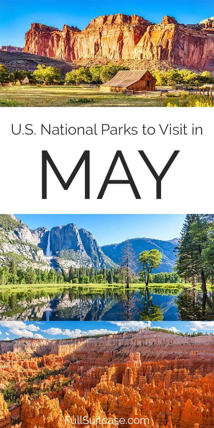 American national parks to see in May