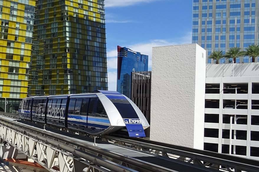 Aria Express free tram in Las Vegas