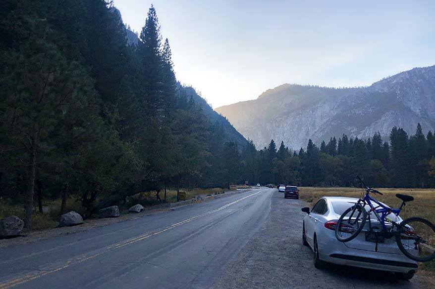 Getting around Yosemite - by car is the easiest