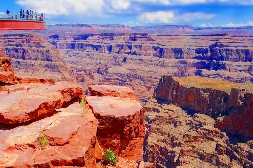 Grand Canyon Skywalk can be visited as a day trip from Las Vegas
