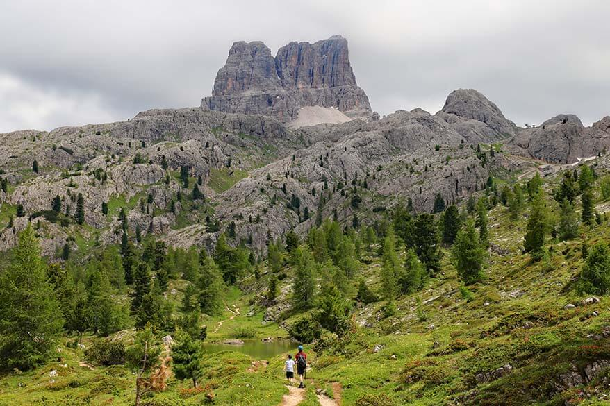 Hiking to Lago Limides in Italy