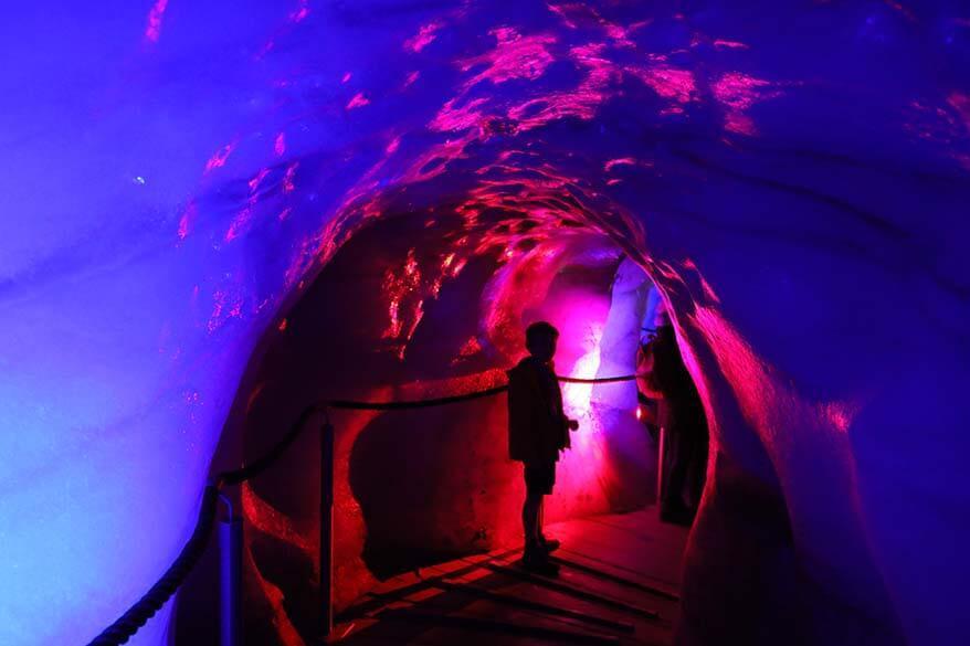 Ice tunnel at Stubai Ice Grotto