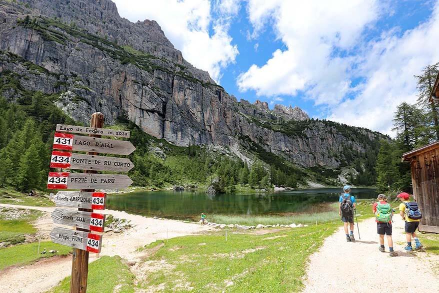 Lago Federa hike