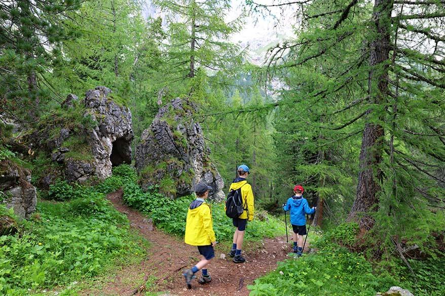 Lago Limides hike with kids