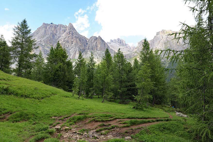 Lago di Limides hiking trail