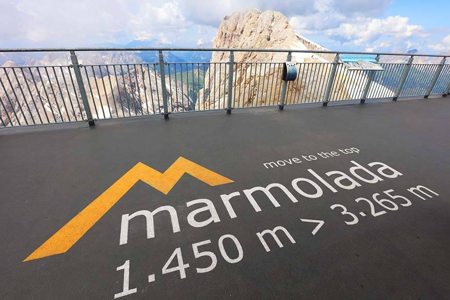 Marmolada Move to the Top viewing platform