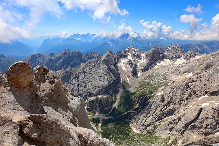 Marmolada mountain scenery