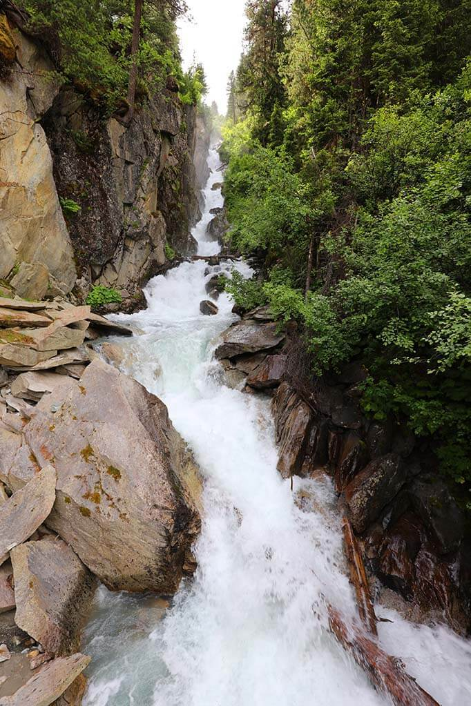 Mutterberger Gorge and Waterfall at Stubai Glacier