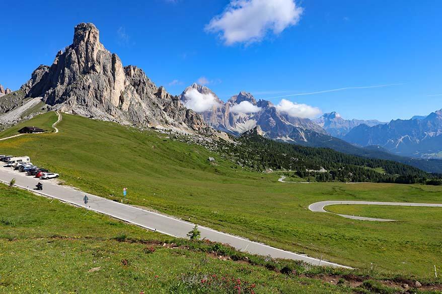 Passo di Giau in Italy