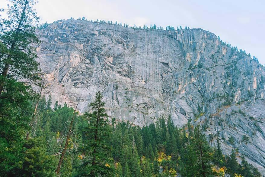 Sheer Rocks in Yosemite Valley