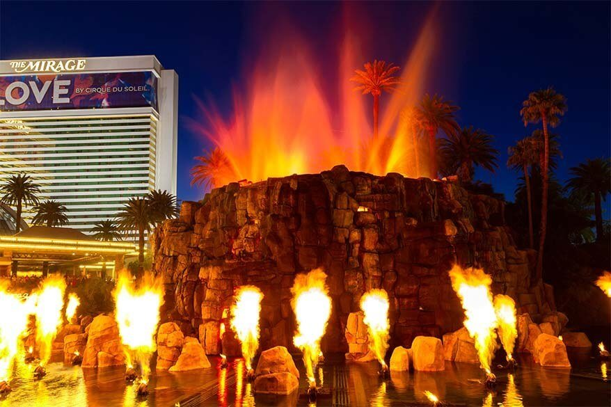The Mirage Volcano Show in Vegas