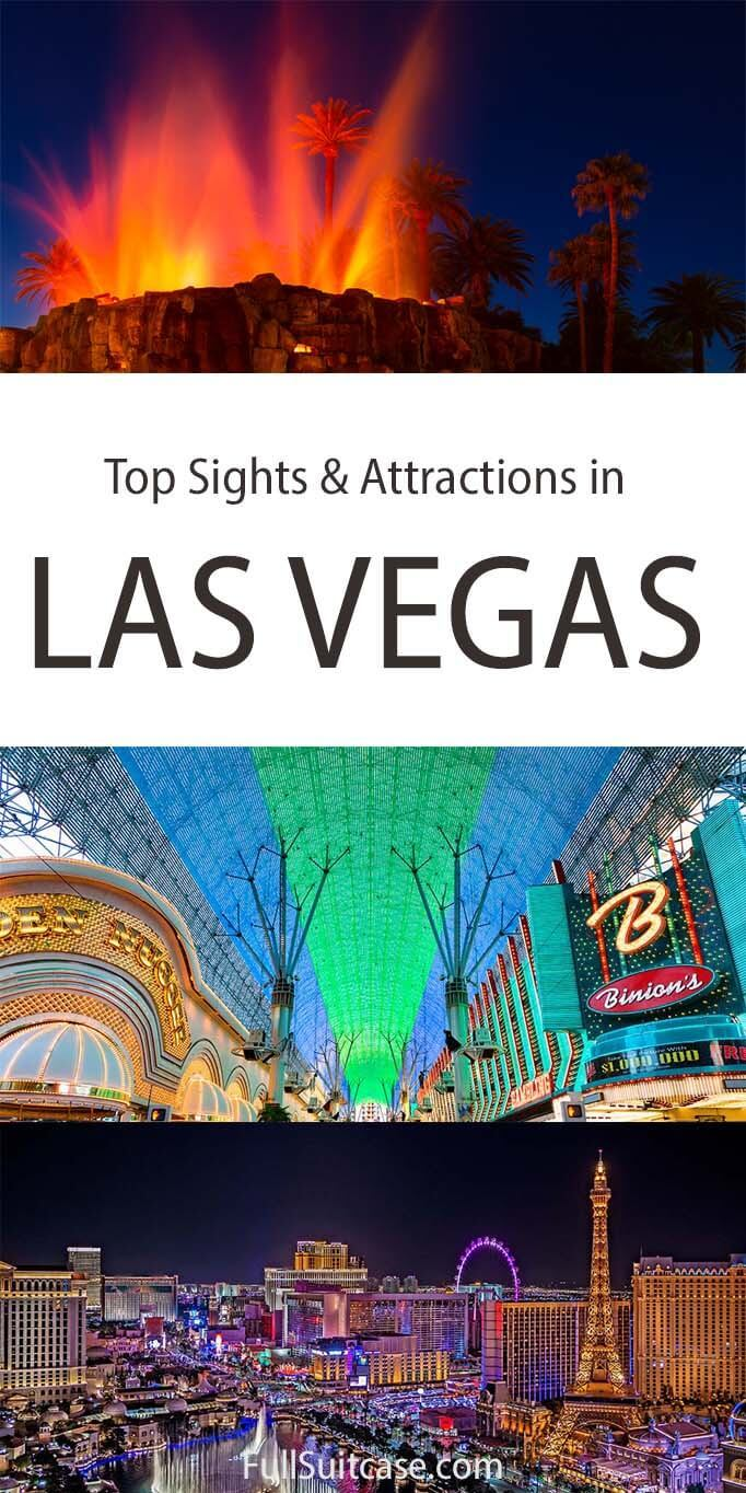 Top sights and attractions in Las Vegas Nevada USA