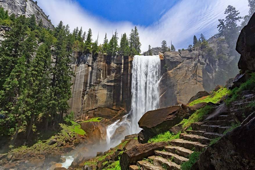 Vernal Falls in Yosemite National Park California