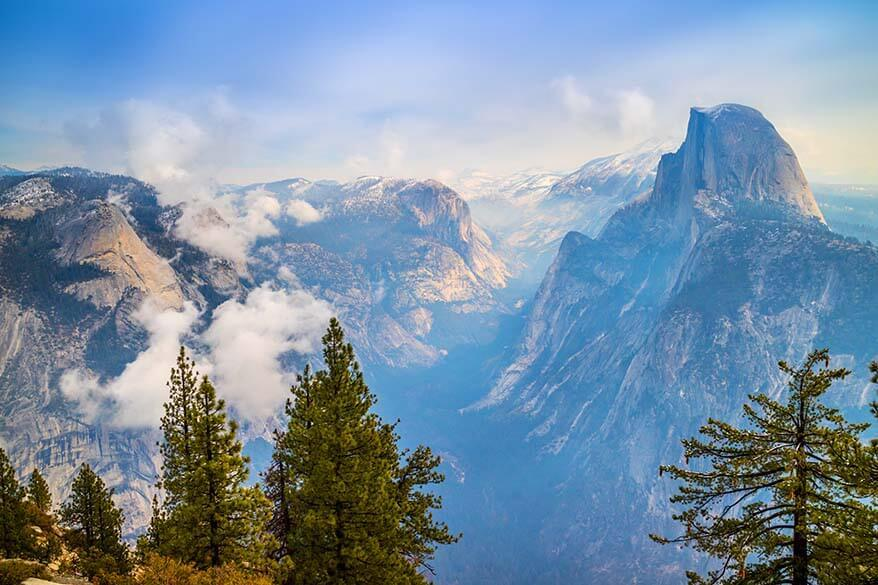 Views from Glacier Point in Yosemite