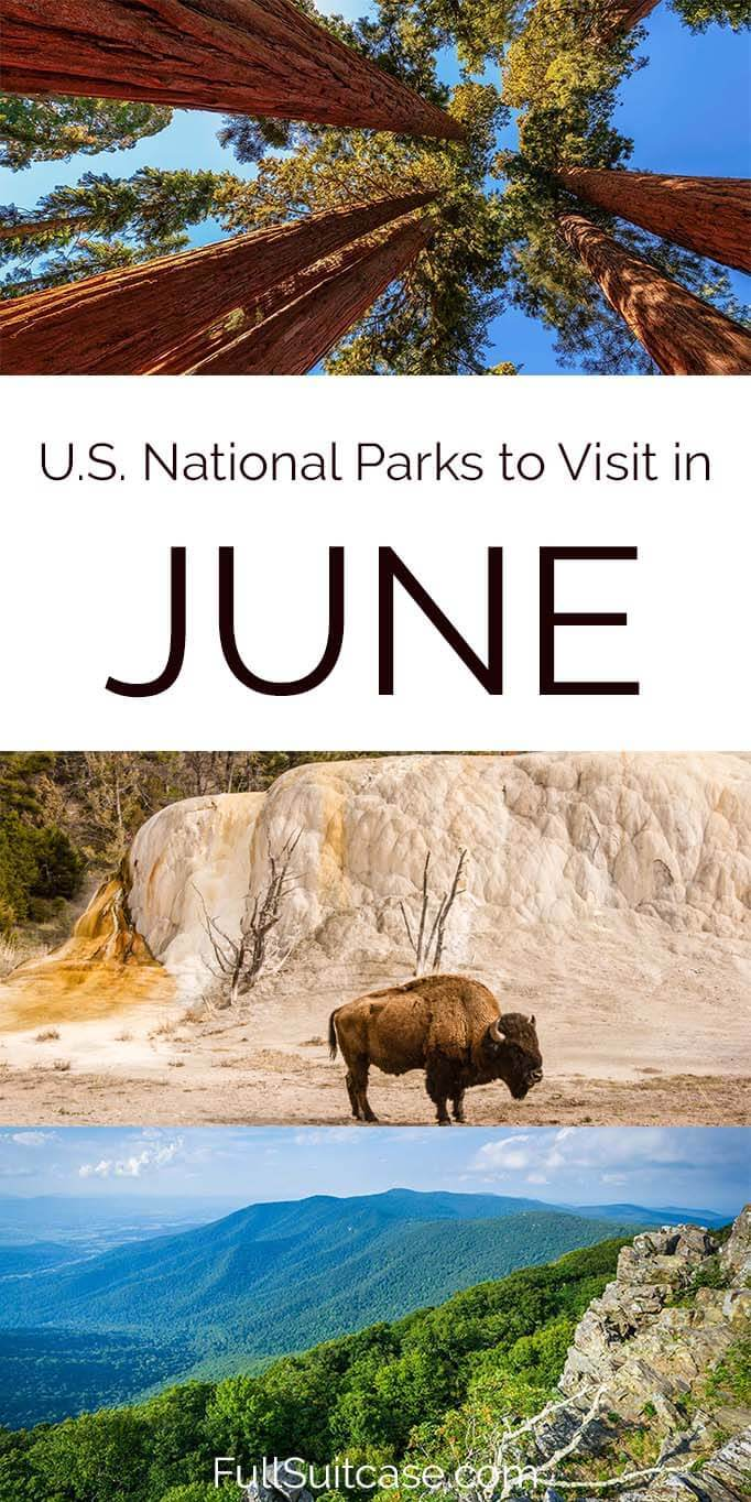 Where to travel in early summer - some of the best American national parks to visit in June