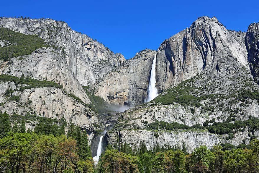 Yosemite Falls - lower and upper falls