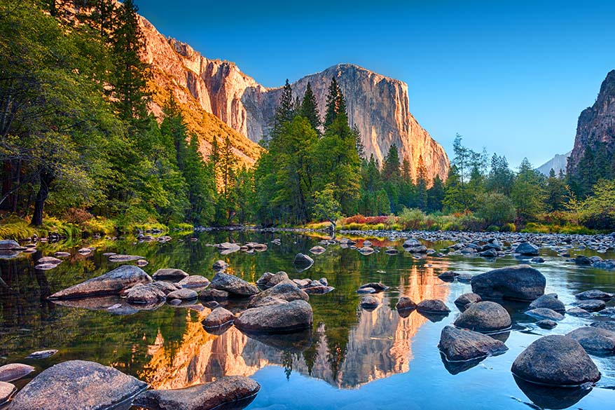 Yosemite Valley reflections on Merced River