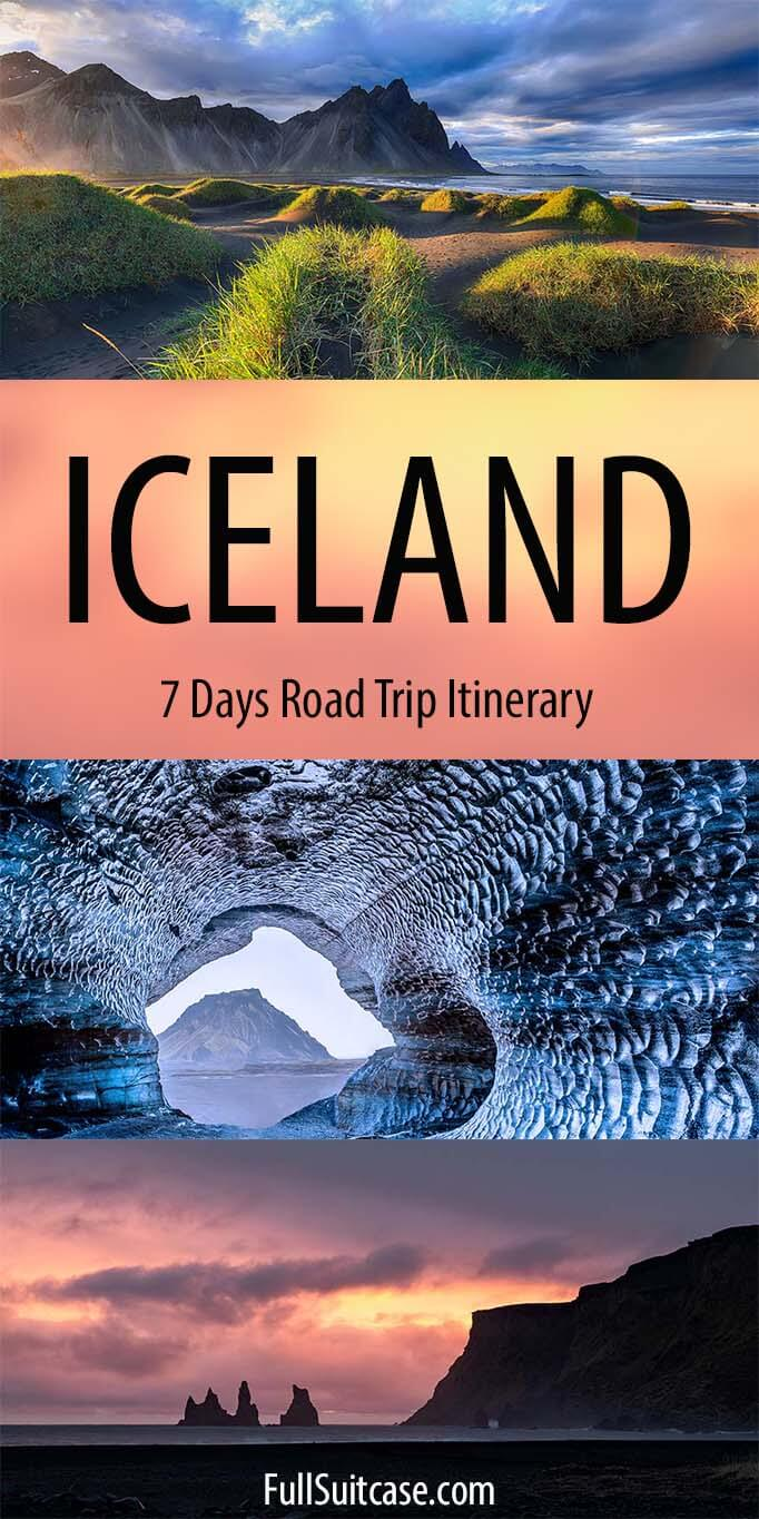 7 days Iceland itinerary with map