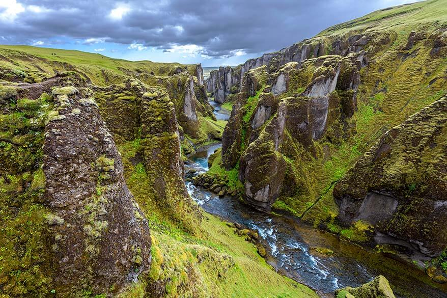 Fjadrargljufur Canyon is one of the most beautiful places on the south coast of Iceland