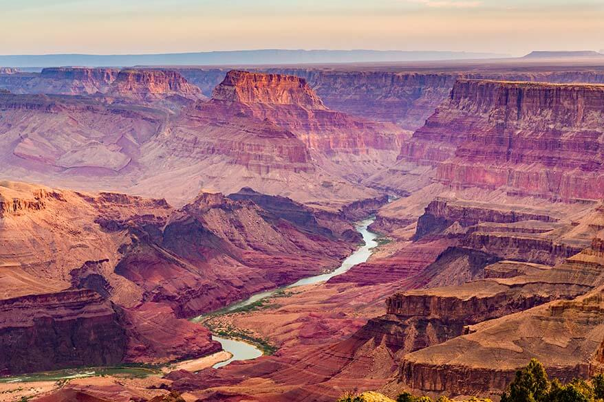 Grand Canyon South Rim is one of the most popular Las Vegas day trips