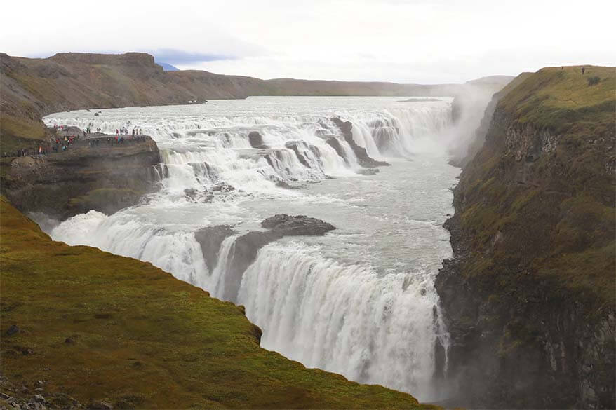 Gullfoss Waterfall is a must in any Iceland itinerary