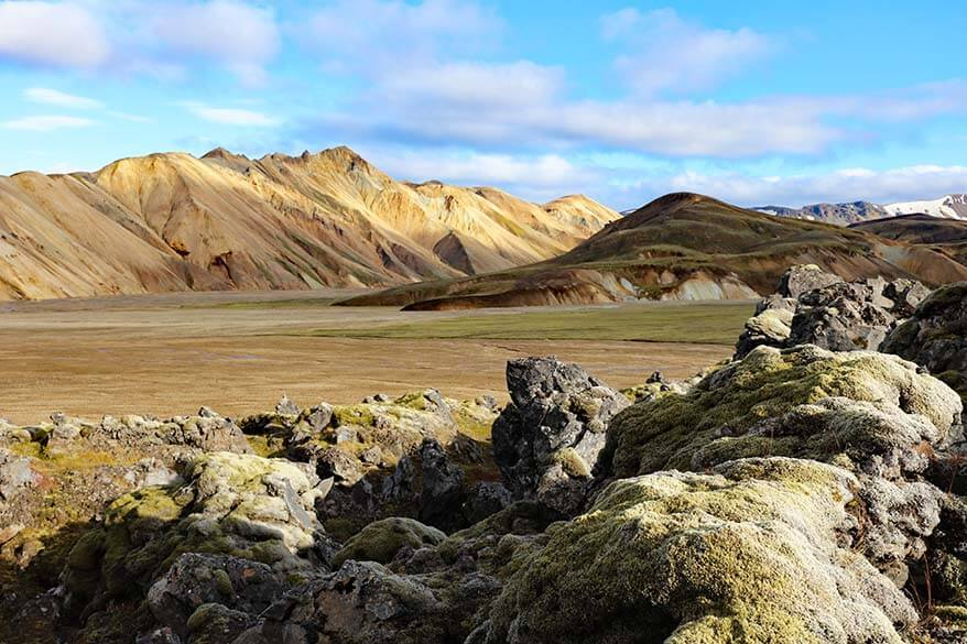 Iceland itinerary for one week - Landmannalaugar in the Icelandic highlands
