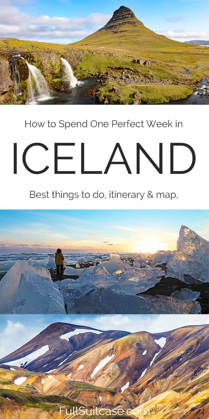 Iceland one week road trip itinerary