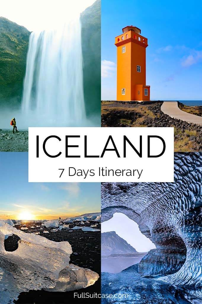 Iceland seven days itinerary for a self drive road trip by car
