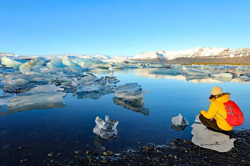 Jokulsarlon Glacier Lagoon is one of the most beautiful places of the south coast of Iceland