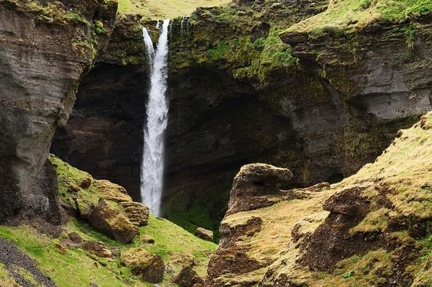Kvernufoss Waterfall in Iceland