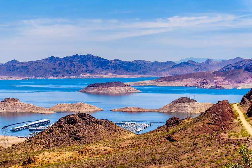Lake Mead is a popular place to visit near Las Vegas